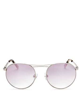 Kendall + Kylie - Women's Bella Mirrored Round Sunglasses, 54mm