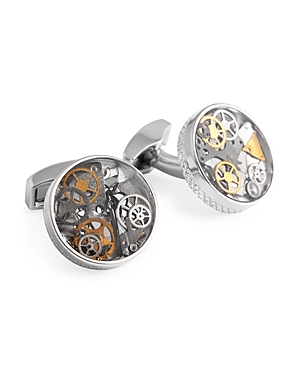 Tateossian Round Rotating Gear Cufflinks