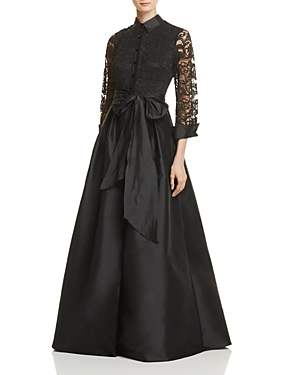 Adrianna Papell Lace-Top Ball Gown