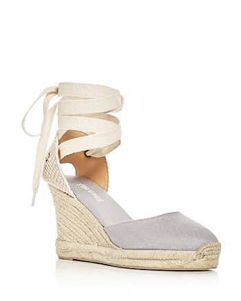 46b5a557d25 Soludos Women's Lace Up Espadrille Wedge Sandals | Bloomingdale's