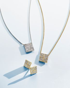 John hardy 18k yellow gold modern chain diamond square pendant john hardy 18k yellow gold modern chain diamond square pendant necklace 16 mozeypictures Image collections