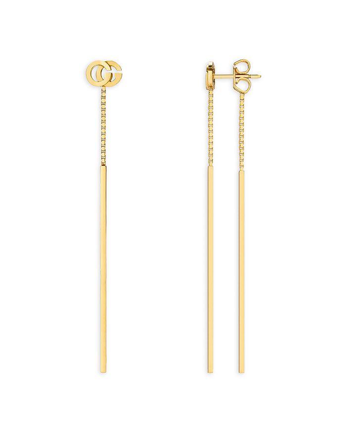 c1b6ea4c77b Gucci - 18K Yellow Gold Running G Drop Earrings