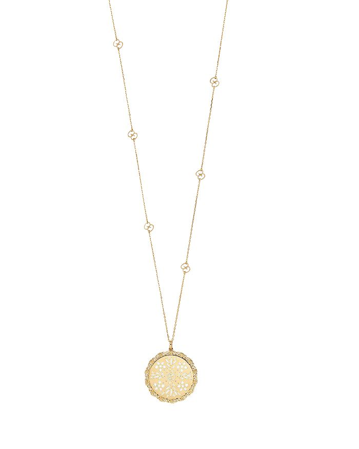 c4e1bf3cc Gucci 18K Yellow Gold Icon Blooms Pendant Necklace, 31.5 ...