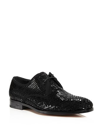 Salvatore Ferragamo - Crystallized Leather Derby Shoes