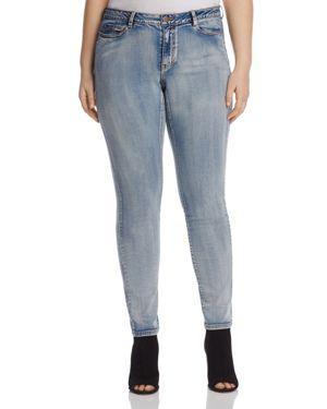 Junarose Slim Leg Jeans in Medium Blue Denim