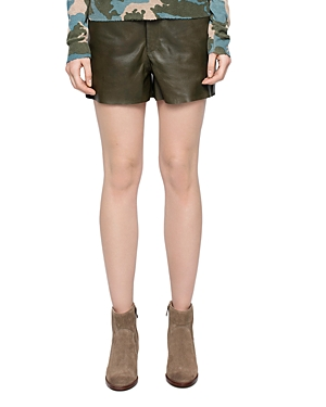 Zadig & Voltaire Samos Leather Shorts