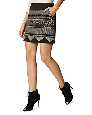Karen Millen Tribal Motif Mini Skirt