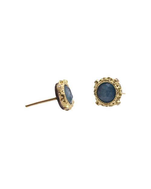 Armenta - 18K Yellow Gold and Sterling Silver New World Blue Quartz Triplet and Diamond Earrings - 100% Exclusive