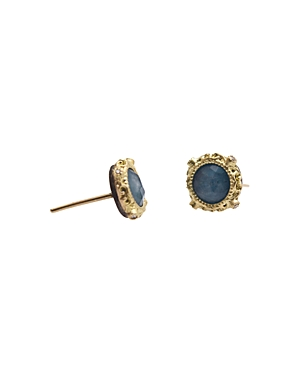 Armenta 18K Yellow Gold and Sterling Silver New World Blue Quartz Triplet and Diamond Earrings - 100% Exclusive