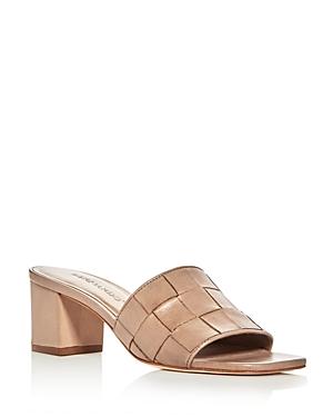Bernardo Bridget Woven Block Heel Slide Sandals