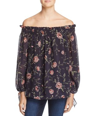 Bardot Floral Off-The-Shoulder Top - 100% Exclusive