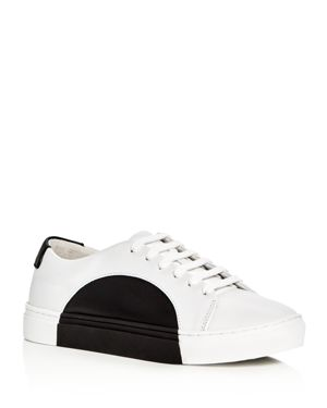 They New York Circle Color Block Leather Lace Up Sneakers