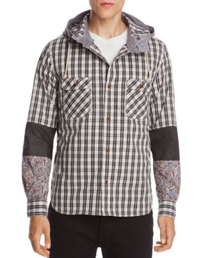 Junya Watanabe Patch-Sleeve Hooded Sweatshirt