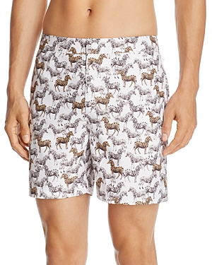 Original Penguin Zebra Print Swim Trunks