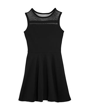 Aqua Girls' Illusion Fit-and-Flare Dress, Big Kid - 100% Exclusive