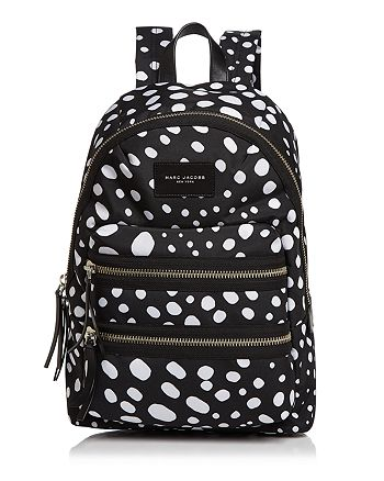 MARC JACOBS - Biker Wavy Spot Printed Backpack