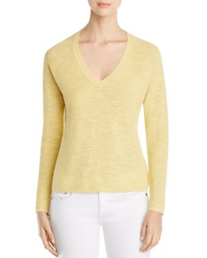 Eileen Fisher Petites Textured V-Neck Sweater