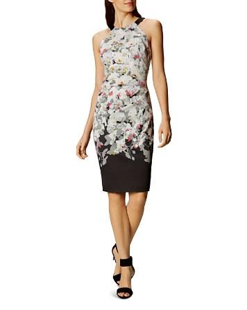 $KAREN MILLEN Ombré Blossom Sheath Dress - Bloomingdale's