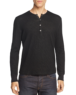 John Varvatos Collection Double-Face Crinkle Henley Shirt