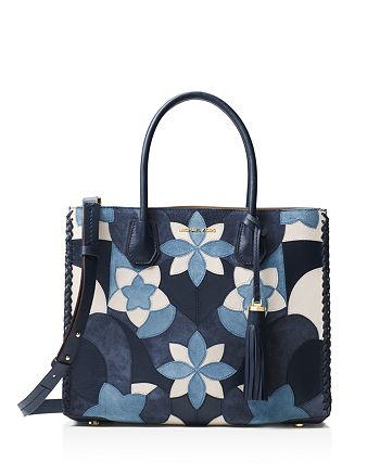 MICHAEL Michael Kors - Mercer Floral Patchwork Convertible Large Leather Tote