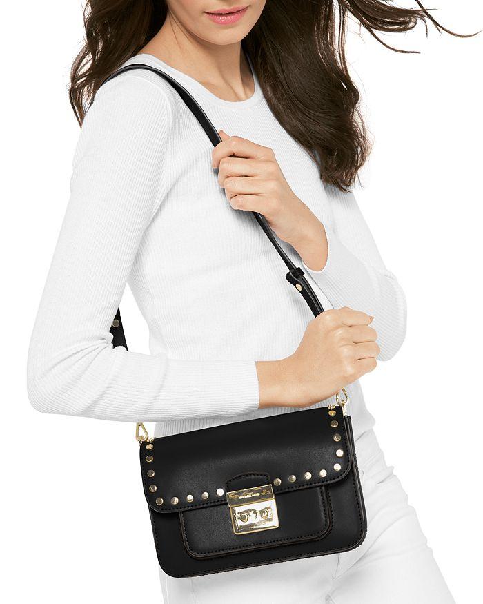eb9bfa8fc221 MICHAEL Michael Kors Sloan Editor Studded Large Leather Shoulder Bag ...