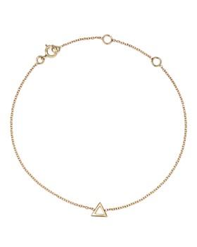 MATEO - 14K Yellow Gold Mini Triangle Chain Bracelet
