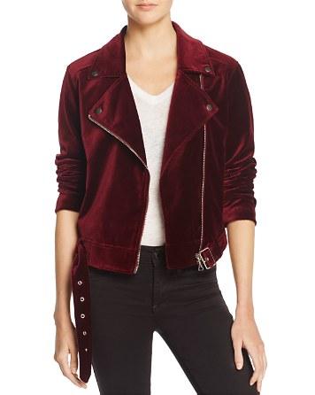 $PAIGE Shanna Jacket Velvet Moto Jacket - 100% Exclusive - Bloomingdale's