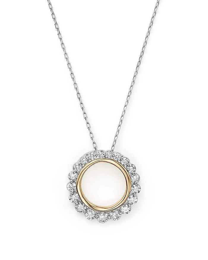 Bloomingdale's - Diamond Open Circle Pendant Necklace in 14K Yellow and White Gold, .75 ct. t.w. - 100% Exclusive
