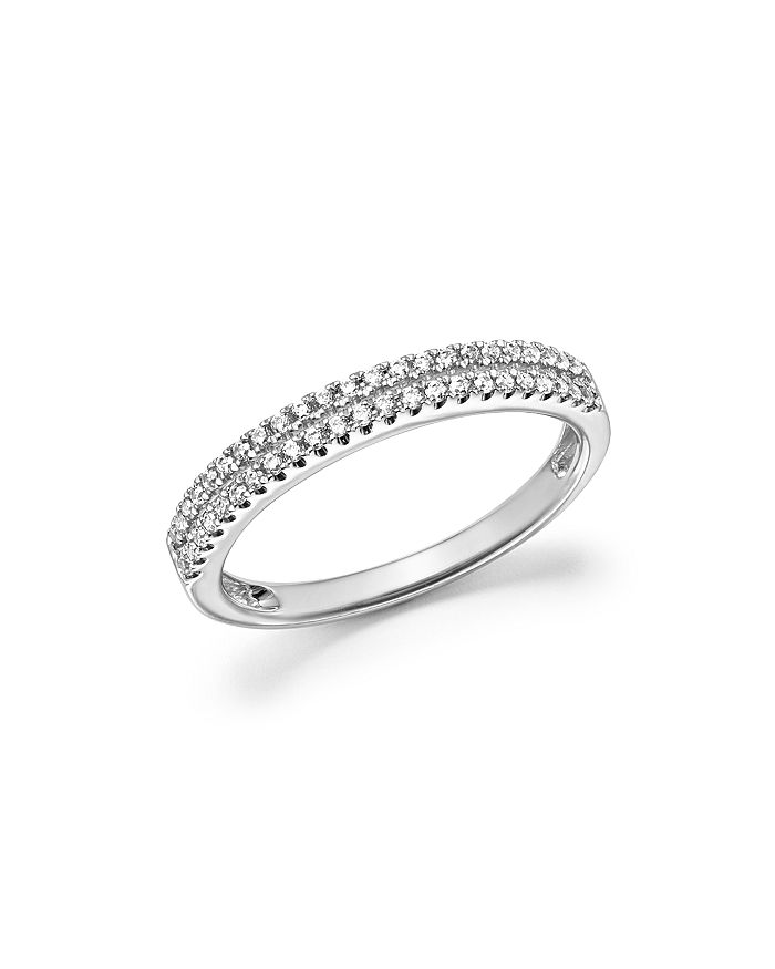 Bloomingdale's - Diamond Double Row Band Ring in 14K White Gold, .25 ct. t.w. - 100% Exclusive