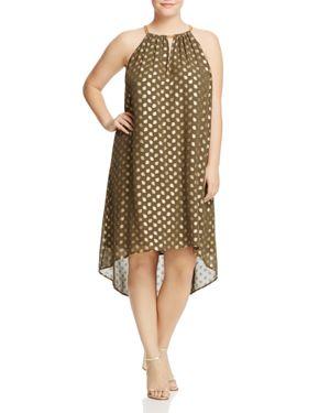 Michael Michael Kors Plus Bergalia Chain Neck Dress