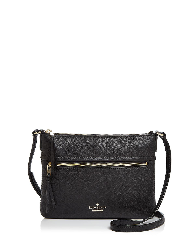 Kate Spade New York Jackson Street Gabriele (Black/Bone) Handbags Objfhhp