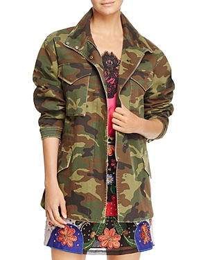 Alice + Olivia Russo Oversized Camo Parka - 100% Exclusive