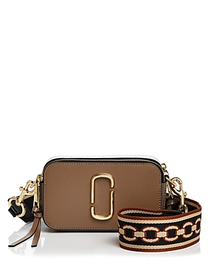 Marc Jacobs Snapshot Chain Print Strap Color Block Leather Camera Bag