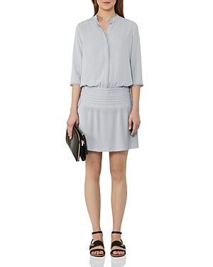 Reiss Bergamo Smocked Dress