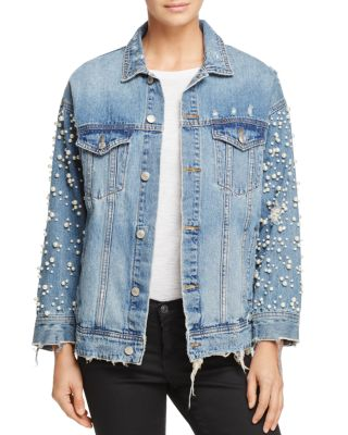 Embellished Denim Jacket   100% Exclusive  by Sunset &Amp; Spring