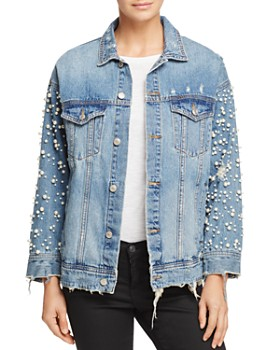 Sunset   Spring - Embellished Denim Jacket - 100% Exclusive ... b078c345053