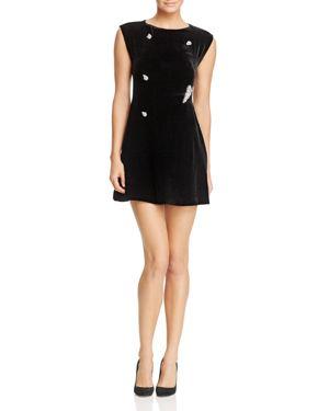 Sandro Spice Embellished Velvet Mini Dress - 100% Exclusive