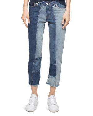 Zadig & Voltaire Deluxe Boyfix Patchwork Boyfriend Jeans in Blue 2547267