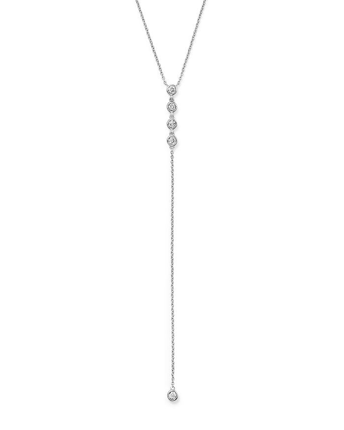 Bloomingdale's - Diamond Bezel Set Y Necklace in 14K White Gold, .25 ct. t.w. - 100% Exclusive