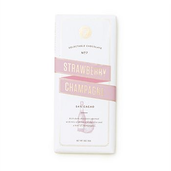Lolli and Pops - Strawberry Champagne Dark Chocolate Bar