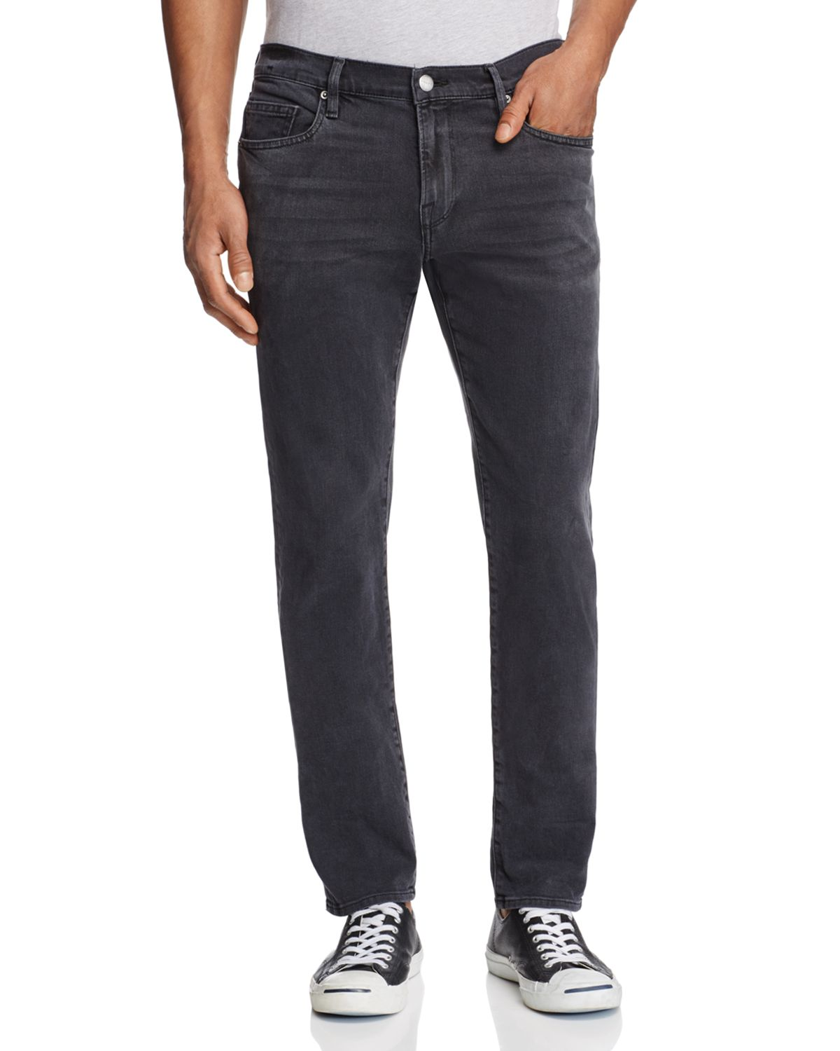 L'homme Skinny Fit Jeans In Fade To Grey by Frame