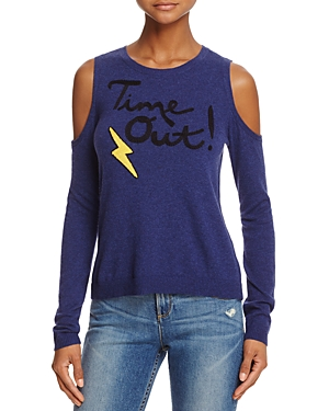 Alice + Olivia Wade Time Out Cold-Shoulder Sweater