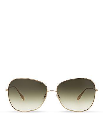 Oliver Peoples - Women's Elsie Oversized Square Sunglasses, 64mm