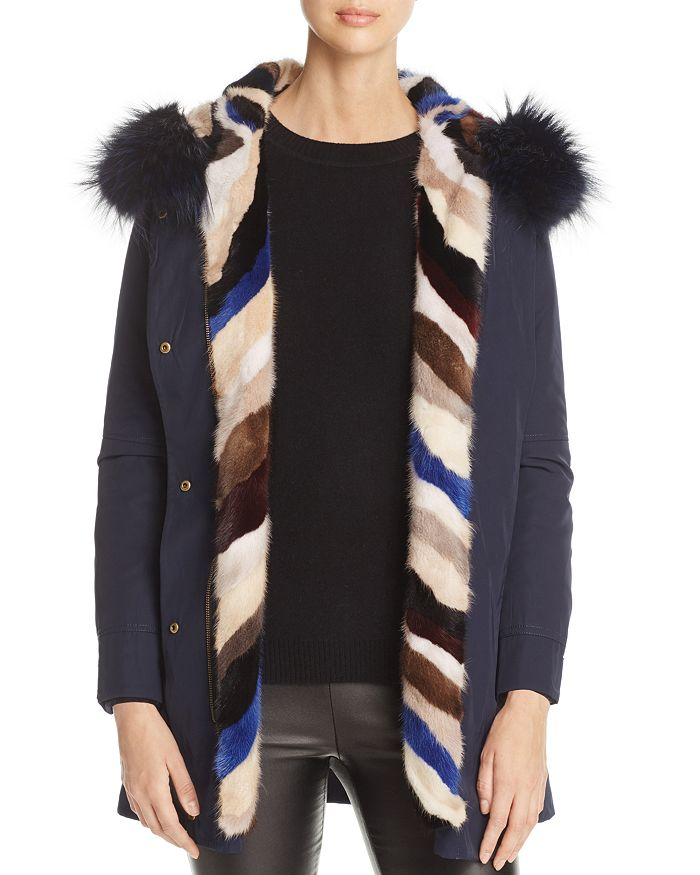 Maximilian Furs - Mink Fur Lined Hooded Jacket- 100% Exclusive