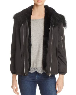 RABBIT FUR LINED JACKET - 100% EXCLUSIVE