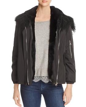 Maximilian Furs - Rabbit Fur Lined Jacket - 100% Exclusive