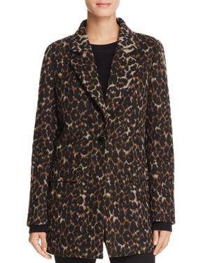 T Tahari Kendall Leopard Print Coat