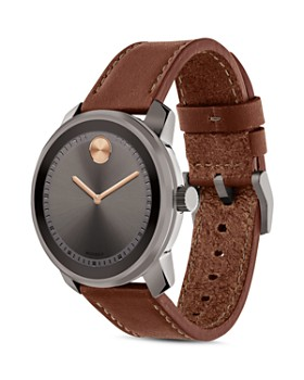 Movado - Museum Dial Watch with Leather Strap, 42.5mm