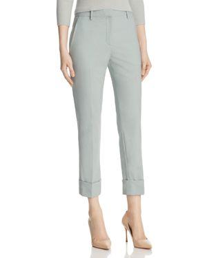 Theory Stretch Wool Cropped Cuffed Pants