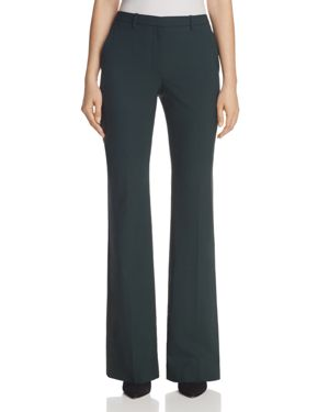 Theory Demitria Stretch Wool Bootcut Pants